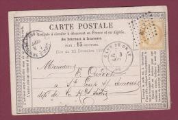 MARCOPHILIE - 220414 -  GARE DE GRAY - 15 C Cérès Sur Carte Postale Oblitéré Losange De Points BELP - Poste Ferroviaire