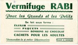 BUVARD  -  VERMIFUGE RABI  -  DIM / 21 X 13 CM - Produits Pharmaceutiques