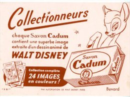 BUVARD  -  SAVON CADUM  -  WALT DISNEY  -  DIM / 16 X 13 CM - Buvards, Protège-cahiers Illustrés