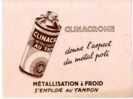 BUVARD  -  CLINACROME  -  METALLISATION A FROID   - DIM / 15 X 13 CM - Pulizia