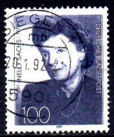GERMANY 1991 Birth Centenary Of Nelly Sachs (writer) - 100pf Nelly Sachs   FU - Gebraucht