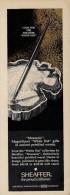 # SHEAFFER´S FOUNTAIN PEN IOWA 1970s Italy Advert Publicitè Publicidad Reklame Penna Fuller Pluma Stylo Encre Ink - Pens