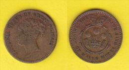 Gran Bretagna Gettone Regina Vittoria  Tre Piume Modulo 1/2 Sovrana - Monarchia/ Nobiltà