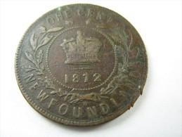 CANADA  NEWFOUNDLAND   1 ONE CENT 1872  COIN  LOT 14 NUM  29 - Canada