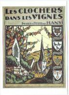 Illustrateur Hansi Ecussonsdes Principales Villes De La Route Des Vins - Hansi