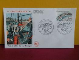 FDC- Port De Pêche Sud Bretagne - 29 Concarneau - 11.6.1983 - 1er Jour, - FDC