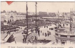 23592 LYON Exposition Internationale 1914 . Panorama Jardins Parc Attractions -BF Paris Banque Privée - Lyon