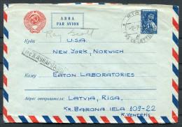 1960 Latvia Riga - Eaton Laboratories Norwich New York USA Stationery Cover - Latvia