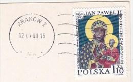 Timbre / Stamp / Pologne / Polska - Collé Sur Carte Postale : Warszawa - Ulica Brzozowa Na Starym Miescie / 2000 - Stamped Stationery