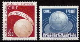 CHILI   N° 415/16  * *   Cup  1974   Football  Soccer Fussball - Coppa Del Mondo