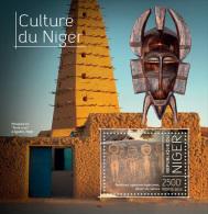 NIGER 2013 - Mosque, Culture Of Niger S/S. Official Issue - Moskeeën En Synagogen