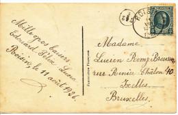 1928 Fantasiekaart PZ193 Van Roisin Naar Ixelles  Zie Scan(s) - 1922-1927 Houyoux