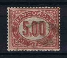Italy: FrancobollI Di Stato - Servizio 1875 Mi 7 Sa 7 Used - Servizi