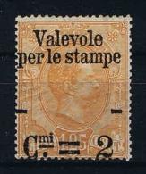 "Italy: 1890 Soprastampata ""Valevole Per Le Stampe"", Sass. N. 54 Mi 65 MH/* - 1878-00 Humbert I."