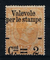 "Italy: 1890 Soprastampata ""Valevole Per Le Stampe"", Sass. N. 54 Mi 65 MH/*"