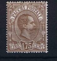 Italy:  Pacchi Postali 1884  Mi Nr 6 Sa 6 MH/*