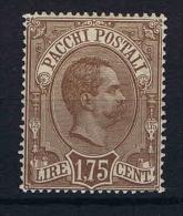 Italy:  Pacchi Postali 1884  Mi Nr 6 Sa 6 MH/* - 1878-00 Umberto I