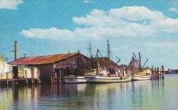 Florida St Augustine San Sebastian River Shrimp Boats At Docks