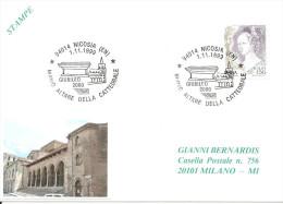 ITALIA - 1999 NICOSIA (EN)  Chiesa S. NICOLA DI BARI - Nuovo Altare Cattedrale - Giubileo 2000 - 130 - Eglises Et Cathédrales