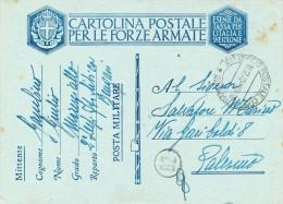 1940 BENGASI LIBIA - CART. POSTALE  PER LE FORZE ARMATE POSTA MILITARE - 1900-44 Vittorio Emanuele III