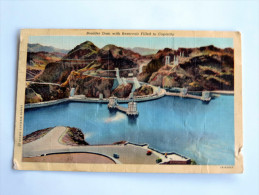 Carte Postale Ancienne : Boulder Dam With Reservoir Filled To Capacity - Etats-Unis