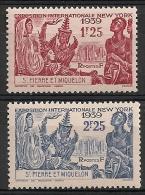Saint Pierre Et Miquelon. 1939. N° 189-190. Neuf * - Neufs