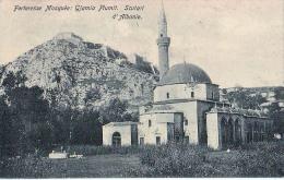 AK ALBANIEN ALBANIA SKODRA SCUTARI FORTERESSE  MOSQUEE GJAMIA PLUMIT  ,NICOLO IDROMENO, OLD POSTKARTE - Albanie