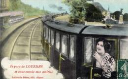 65 Je Pars De Lourdes- TRAIN - Lourdes