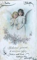 AK ENGEL ANGEL  WEIHNACHTEN  OLD POSTCARD 1902 - Anges