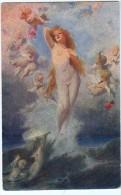 AK ENGEL ANGEL NAKED MÄDCHEN  SIGNIERT KARTE : BENEZUR : VENUR ANADYOMENE , Nr.794. OLD POSTCARD - Anges