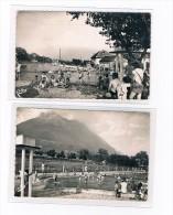 73 Savoie SAINT PIERRE D'ALBIGNY 2 Cartes PISCINES Trés Animées A VOIR - Saint Pierre D'Albigny