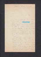 Courrier De 1893 - GERARDMER ( Vosges ) - Auteur à Identifier - Historical Documents
