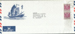 Luftpost-Schmuckumschlag Hong Kong 1987. - Hong Kong (1997-...)