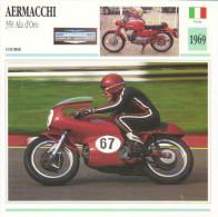 Aermacchi 350 Ala D'Oro (1969)  -  Moto De Course  - Fiche Technique/Carte De Collection - Motociclismo