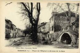 83-BARJOLS-Place De L´Hopital Et Avenue De La Gare- - Barjols