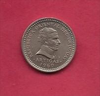 URUGUAY,  1960, Circulated Coin XF, 25 Centimes, Copper Nickel, KM40, C2032 - Uruguay