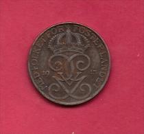 SWEDEN,  1945, Circulated Coin XF , 5 Ore,  Iron , KM 812, C2046 - Zweden