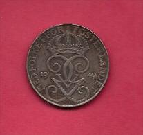 SWEDEN,  1949, Circulated Coin XF , 5 Ore,  Iron , KM 812, C2047 - Zweden