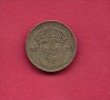 SWEDEN,  1929, Circulated Coin XF , 10 Ore, 0.400  Silver , KM 755, C2051 - Schweden