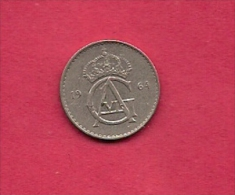 SWEDEN,  1964, Circulated Coin XF , 10 Ore, Copper-Nickel , KM 835, C2055 - Sweden