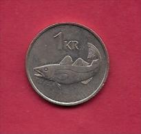 SWEDEN,  1987, Circulated Coin XF , 1 Krona, Copper-Nickel , KM 27, C2056 - Sweden