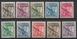 Saint Pierre Et Miquelon. Taxe. 1938. N° 32-41.  Neuf * - Timbres-taxe