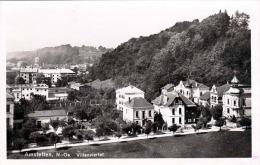 AMSTETTEN Villenviertel, Fotokarte 1934 Gel., Verlag P.Ledermann Wien - Amstetten