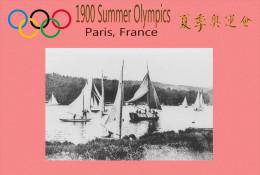 (NZ19-013 )  Sailing  , 1900 Paris  , Olympic Games , Postal Stationery-Postsache F