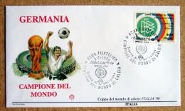 Ra007)   Italia '90  Germania Campione Del Mondo  FDC  - Calcio   Soccer - 1990 – Italia