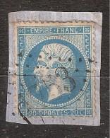 Empire N° 22 , Obl GC 1753 De HAGETMAU, Landes,B/ TB - 1862 Napoleon III