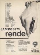 # LAMPOSTYL PENNARELLO MARKER 1960s Italy Advert Publicitè Publicidad Reklame Penna Fuller Pluma Stylo Ink Marcador - Penne