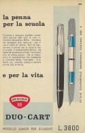 # AURORA FOUNTAIN PEN 1950s Italy Advert Publicitè Publicidad Reklame Penna Stilografica Fuller Pluma Stylo Encre Ink - Penne
