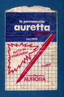 # OPEN PAPER BAG AURORA FOUNTAIN PEN 1960 Italy Advert Publicitè Reklame Penna Stilografica Fuller Pluma Stylo Encre Ink - Penne