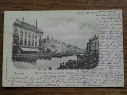 Revue Des Troupes De La Garnison Défilé Place De Meir -  Anno 1910 ( Zie Foto Voor Details ) !! - België